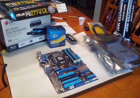 Assembling the motherboard