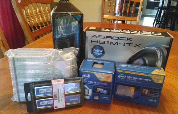 PC components for mini-ITX PC build