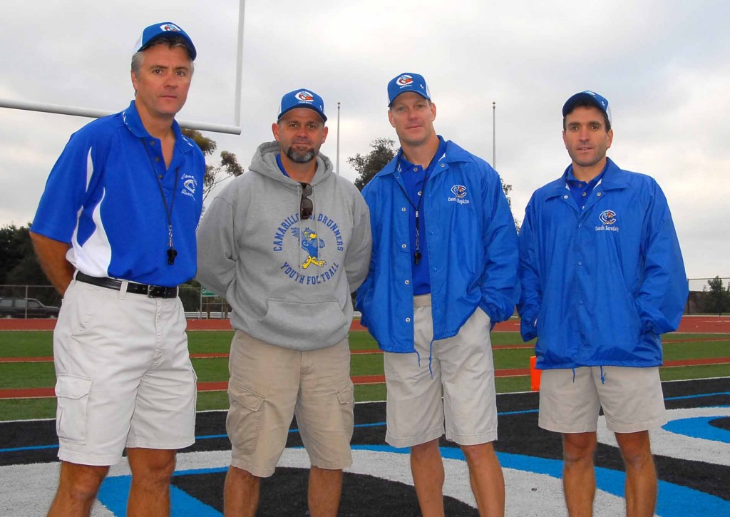Bobby Colquitt, Pat Waid, Jim Hopkins (head coach), Gregg Borodaty