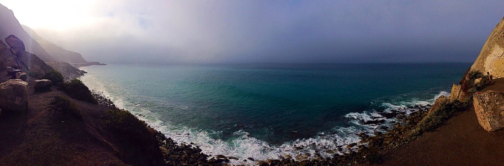 Panaroma view of the sea at Point Mugu Rock