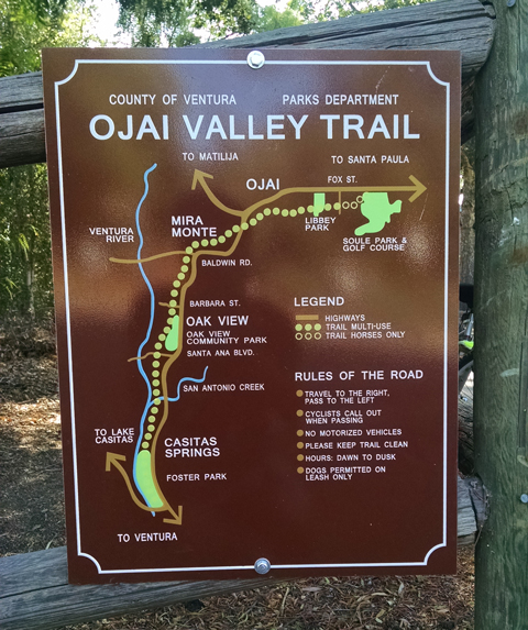 Ojai Valley Trail Map