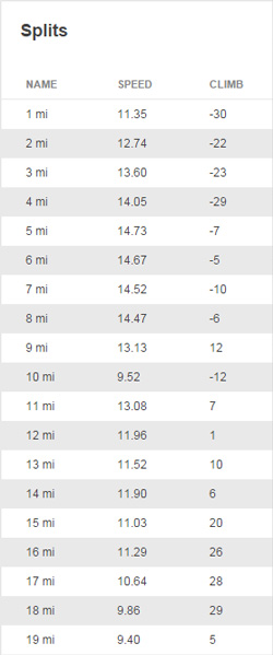 """Splits for """"The Rock"""" ride"""