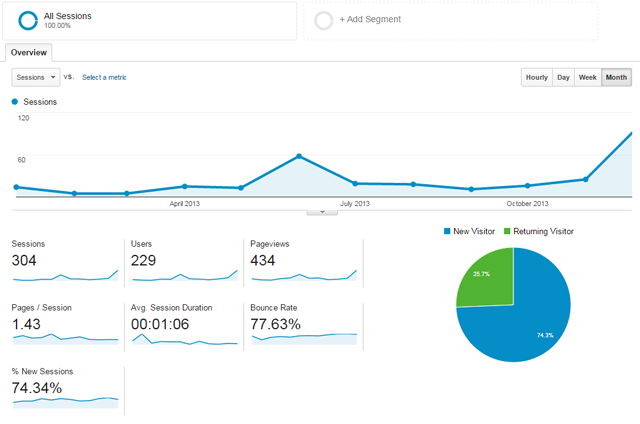Website statistics for 2013