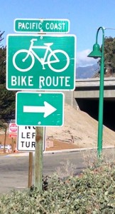 Pacific Coast Bike Route at Bates Road