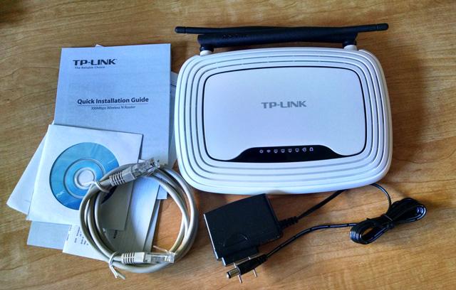 TP-LINK TL-WR841N box contents