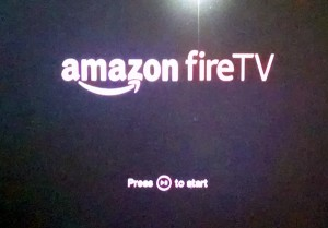Amazon Fire TV startup screen