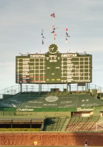 Wrigley Field - Centerfield Scoreboard