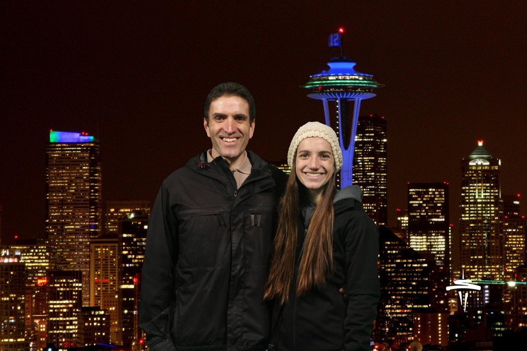 The Space Needle Night Background