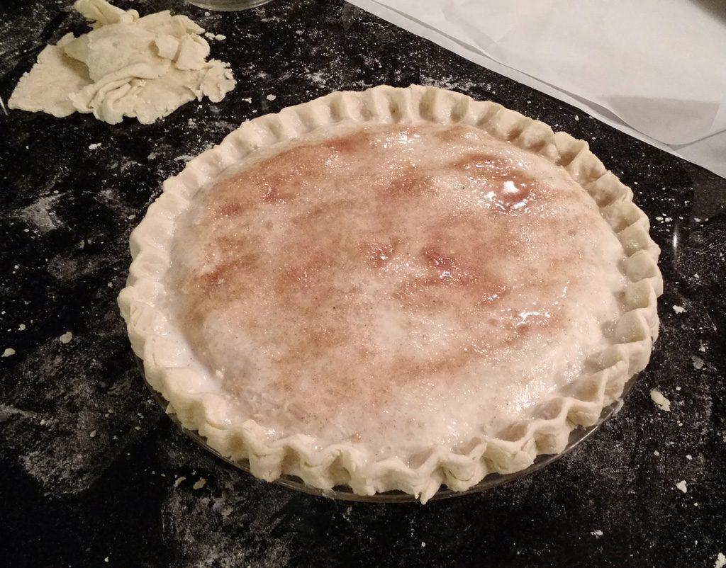Apple pie - before baking