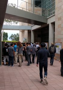 UCSB ECE189 Capstone Senior Posters in the Courtyard
