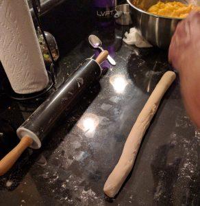 rolled pierogi dough