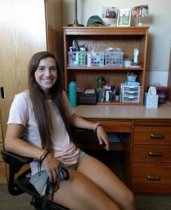 Courtney Borodaty at her desk