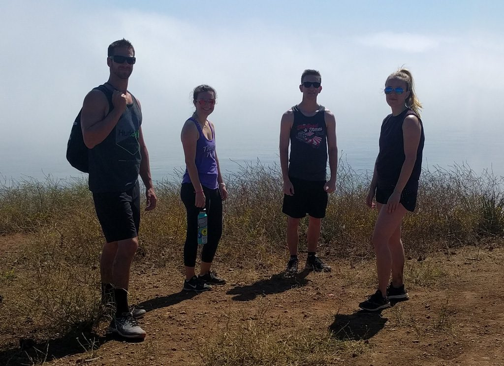 La Jolla Canyon - At the overlook on the Backbone Trail