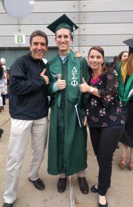 Eastern Michigan graduation - Brad Borodaty, Gregg Borodaty, Lisa Borodaty