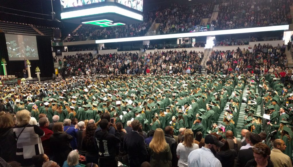 Eastern Michigan University graduation floor