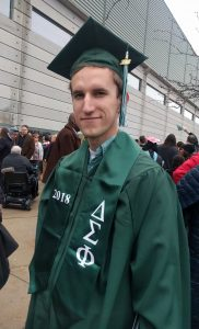 Brad Borodaty after the EMU graduation
