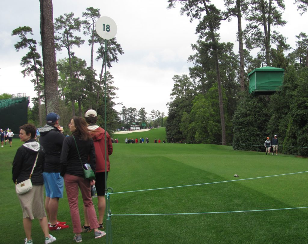 18 tee at Augusta National