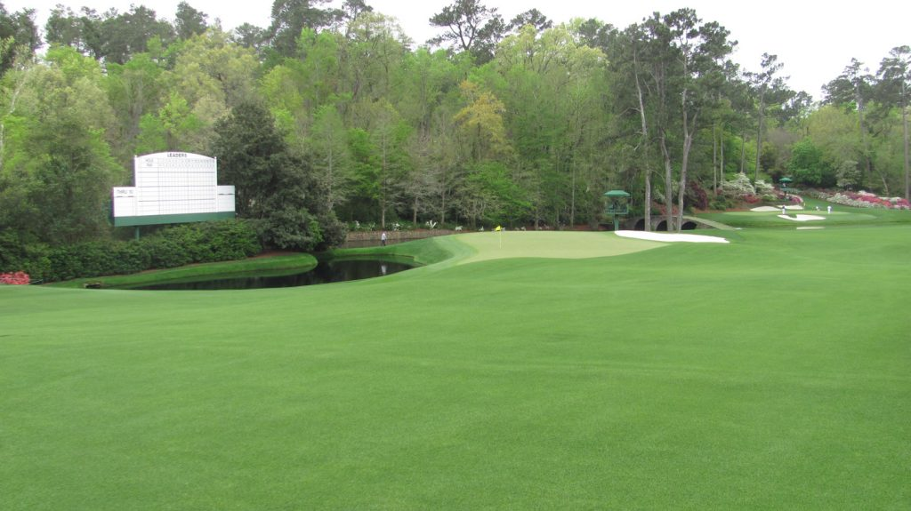 The eleventh green at Augusta National