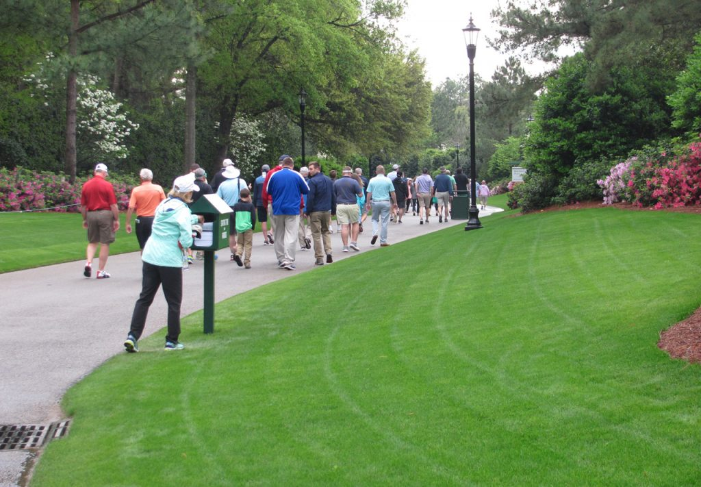 The walkway at the back gate of The Masters