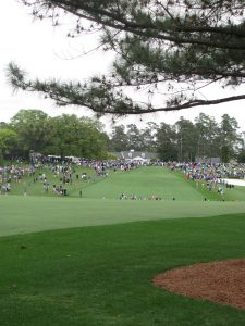 Augusta National First fairway landing area looking toward the clubhouse