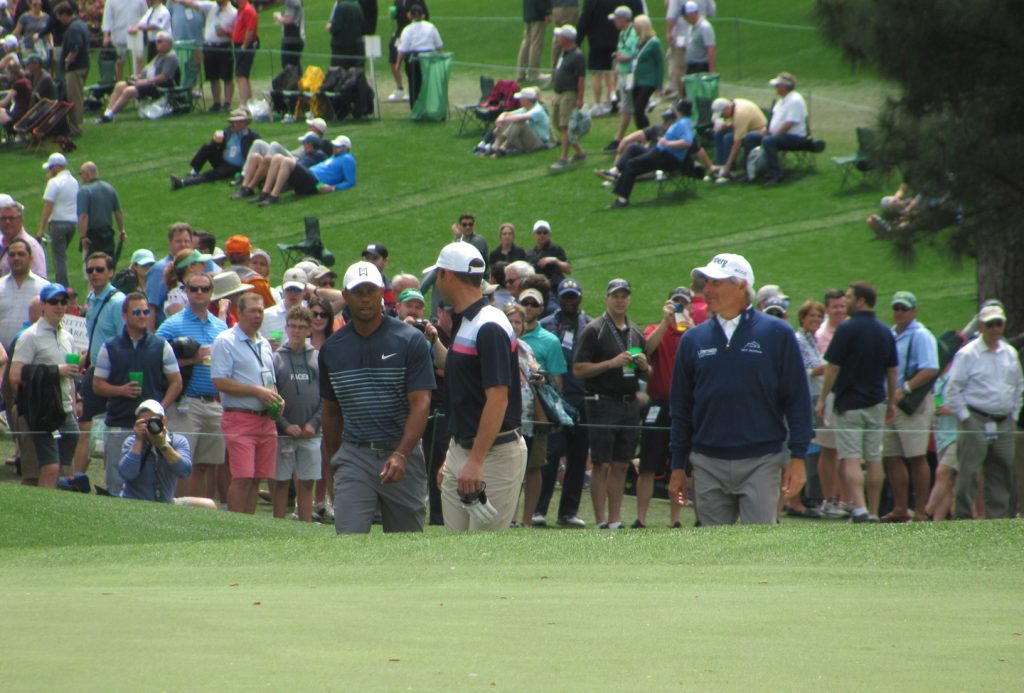 Fred Couples and Tiger Woods at The Masters