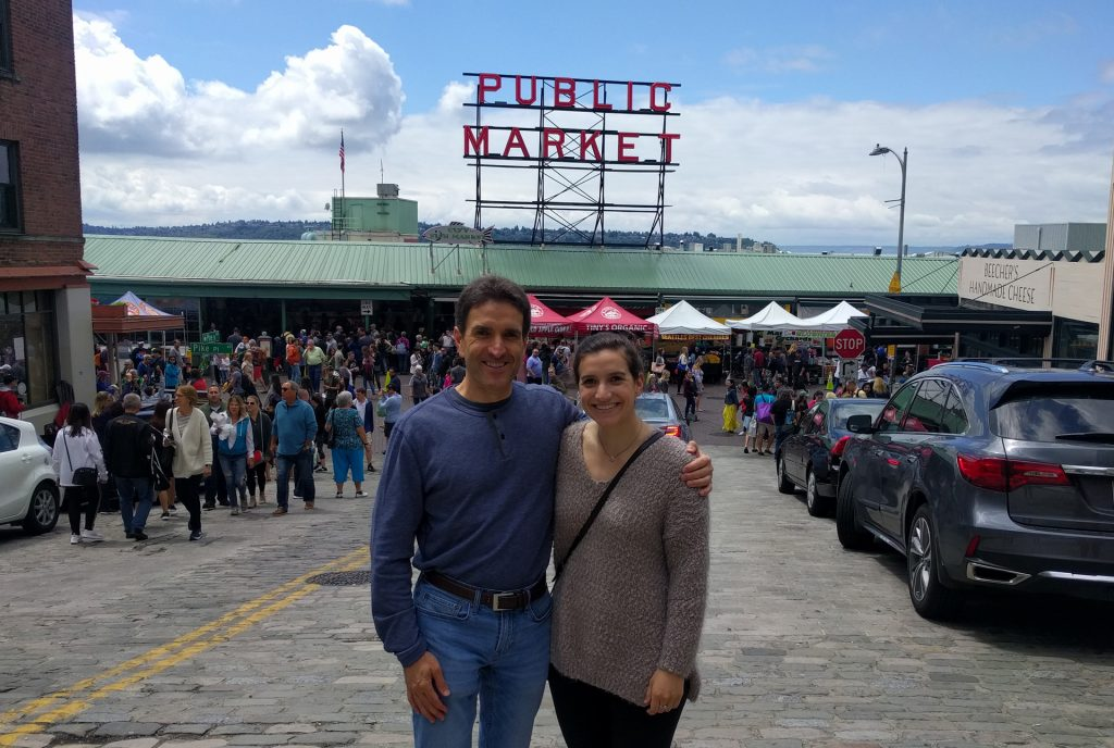 Gregg and Courtney Borodaty at Pike's Market