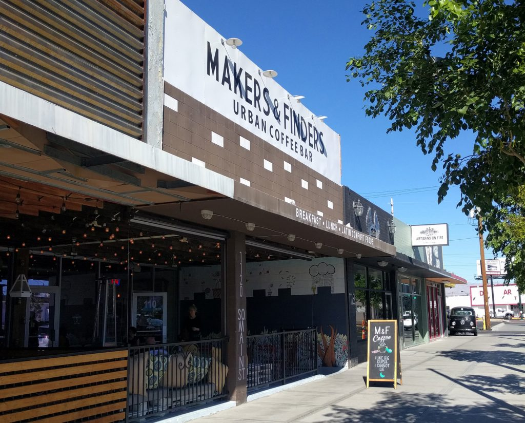 Makers & Finders Urban Coffee Bar Downtown Las Vegas