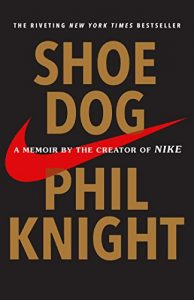 Book cover for Shoe Dog by Phil Knight