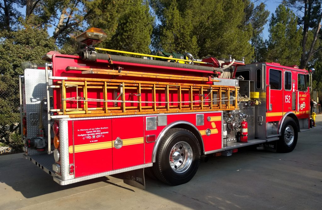 The County of Los Angeles Fire Department Truck