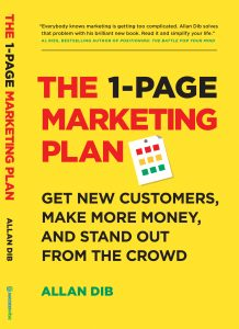Book cover for The 1-Page Marketing Plan by Allan Dib
