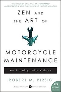 Book cover for Zen and the Art of Motorcycle Maintenance by Robert M. Pirsig