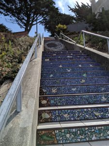Top of the 16th Avenue Tiled Steps in San Francisco