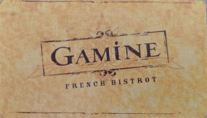Business card for Gamine San Francisco