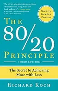 Bokk cover of The 80/20 Principle: The Secret to Achieving More with Less