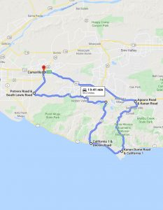 Google map for Canyon Driving - The Final Exam