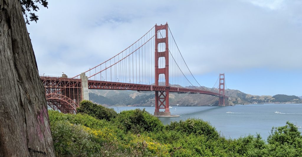 Golden Gate Bridge from the Post Card Viewpoint