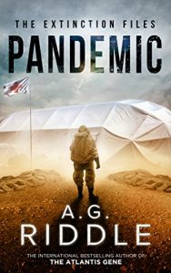 Book cover for Pandemic by A.G. Riddle