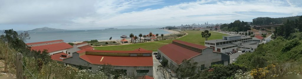 West Bluff Picnic Area, Alcatraz Island, Downtown San Francisco