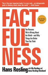 Book cover of Factfulness by Hans Rosling
