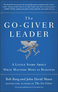 Book cover for The Go-Giver Leader by Bob Burg and John David Mann