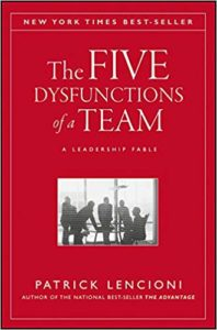 Book cover for The Five Dysfunctions of a Team: A Leadership Fable by Patrick Lencioni