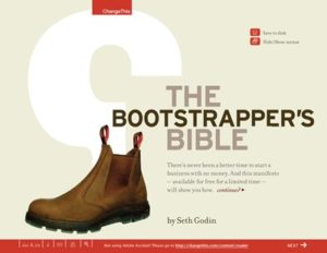 Book cover for The Bootstrapper's Bible by Seth Godin