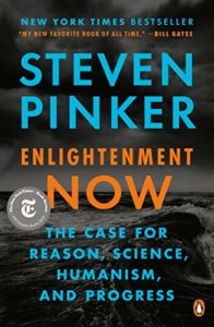 Book cover for Enlightenment Now by Steven Pinker