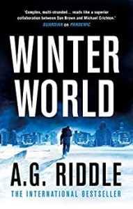 Book cover for Winter World by A.G. Riddle