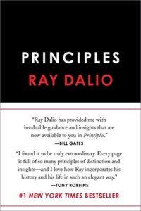 Book cover for Principles by Ray Dalio