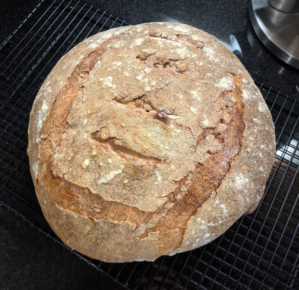 a loaf of homemade sourdough