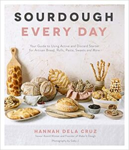 Book cover for Sourdough Every Day by Hannah Dela Cruz