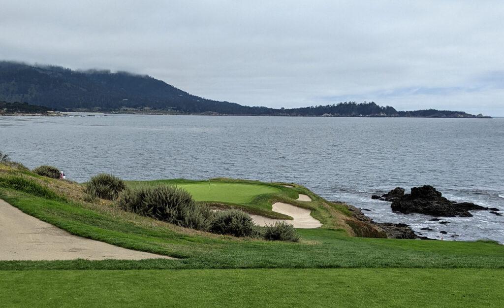 The 7th tee at Pebble Beach Golf Links