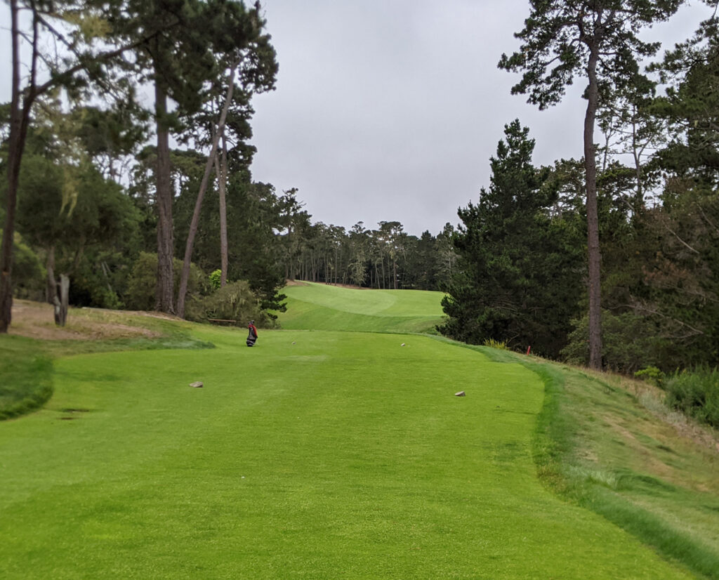 The third tee at Poppy Hills Golf Club