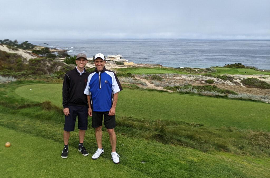 Brad Borodaty and Gregg Borodaty - 3rd tee at Spyglass Hill